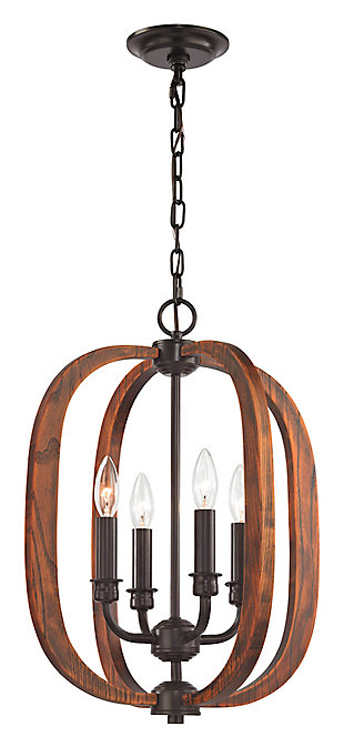 Wood Arches Chandelier, , large