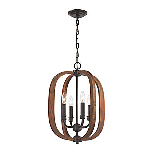 Wood Arches Chandelier, , rollover
