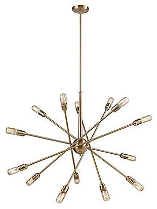 Delphine Chandelier, Satin Brass, large