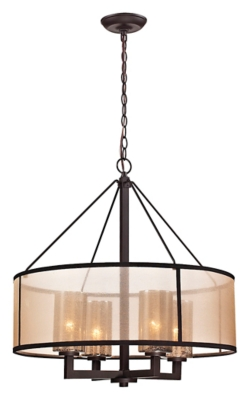 Image of Bronze Finish Chandelier, Oil Rubbed Bronze