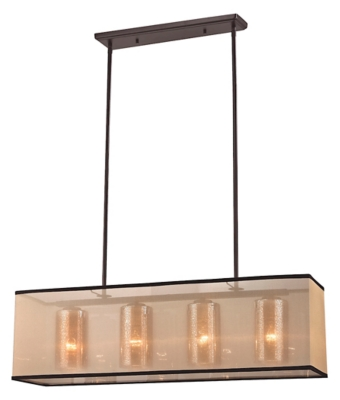 Image of Bronze Finish LED Chandelier, Oil Rubbed Bronze