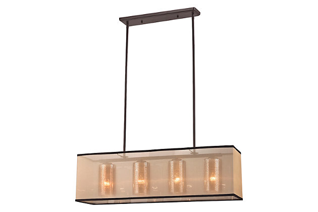 Bronze Finish LED Chandelier, , large