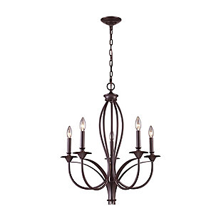 Bronze Finish Chandelier, , rollover