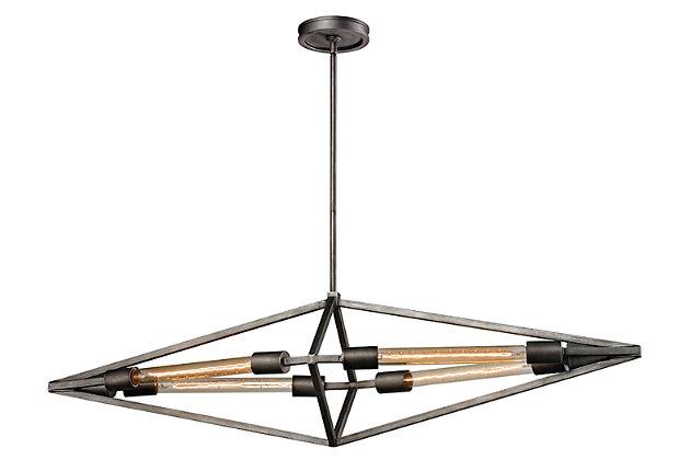 Four Light Chandelier, , large