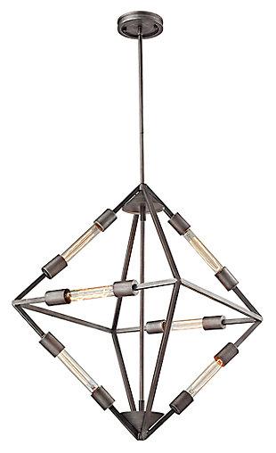 Six Light Chandelier, , large
