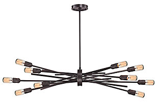 Ten Light Chandelier, , large