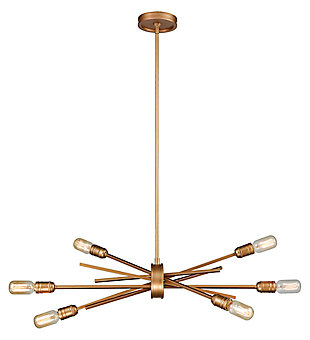 Six Light Chandelier, , large