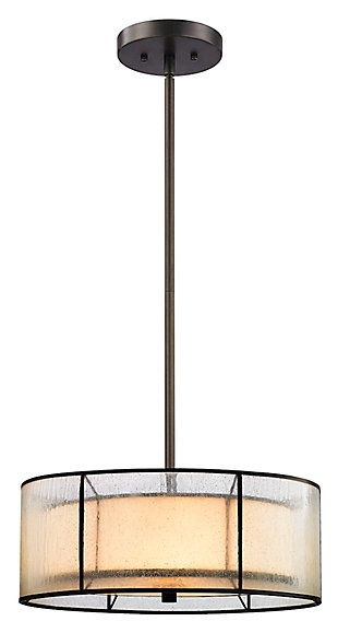 Three Light LED Chandelier, , large