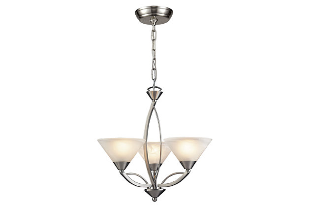 Three Light Chandelier, , large