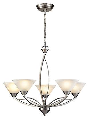 Five Light Chandelier, , large