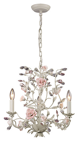 Three Light Chandelier in a Cream Finish, , large