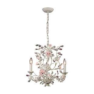 Three Light Chandelier in a Cream Finish, , rollover