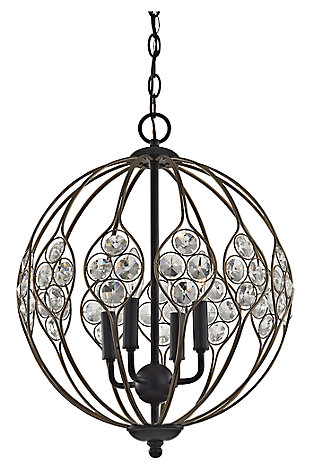 Crystal Web Chandelier, , large