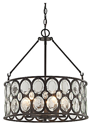 Five Light Chandelier in Oil Rubbed Bronze Finish With Clear Glass, , large