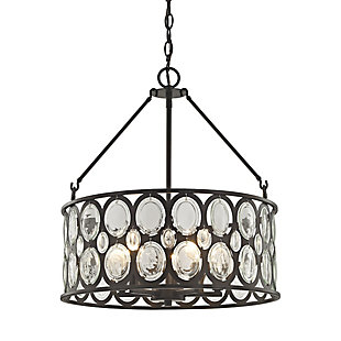 Five Light Chandelier in Oil Rubbed Bronze Finish With Clear Glass, , rollover