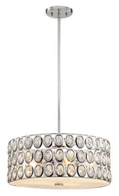 Image of Five Light Chandelier in Polished Chrome With Clear Crystal, Polished Chrome