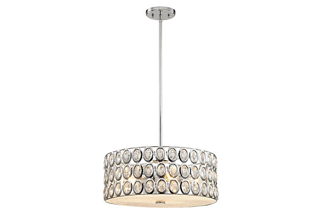 Five Light Chandelier in Polished Chrome With Clear Crystal, , large