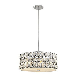Five Light Chandelier in Polished Chrome With Clear Crystal, , rollover