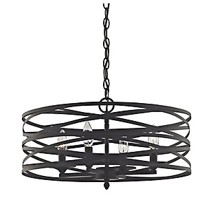 Four Light Vorticy Chandelier in Oil Rubbed Bronze Finish, , rollover