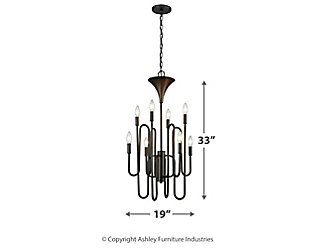 Eight Light Chandelier Oil Rubbed Bronze Finish, , large