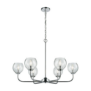 Six Light Chandelier in Polished Chrome Finish, , rollover