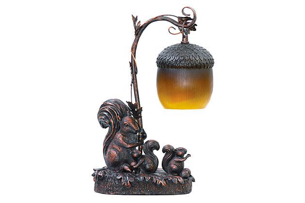 Squirrel And Acorn Lamp, , large