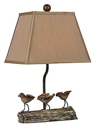 Little Birds On A Log Lamp, , large