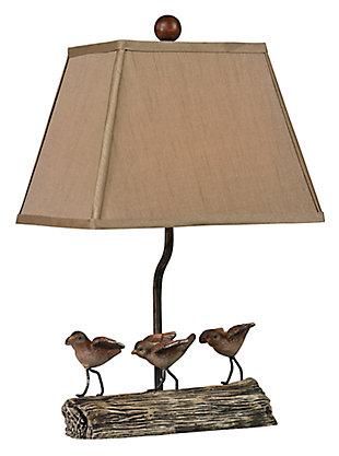 Little Birds On A Log Lamp, , large