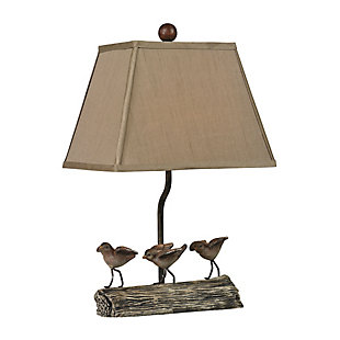 Little Birds On A Log Lamp, , rollover