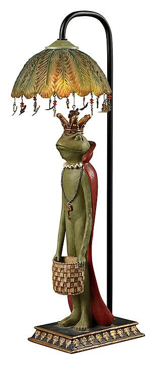 King Frog With Basket Lamp, , large