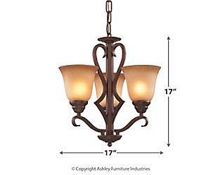 Three Light Chandelier, , large