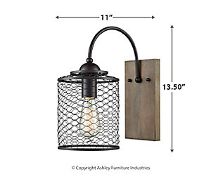 Wooden Eagle's Rest Wall Sconce, , large