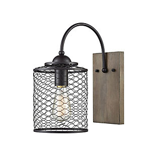 Wooden Eagle's Rest Wall Sconce, , rollover
