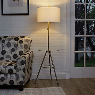 Contempo Tripod Base Floor Lamp with Tray Table, , rollover