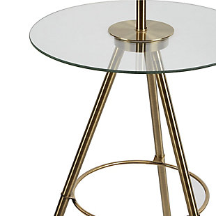 Contempo Tripod Base Floor Lamp with Tray Table, , large