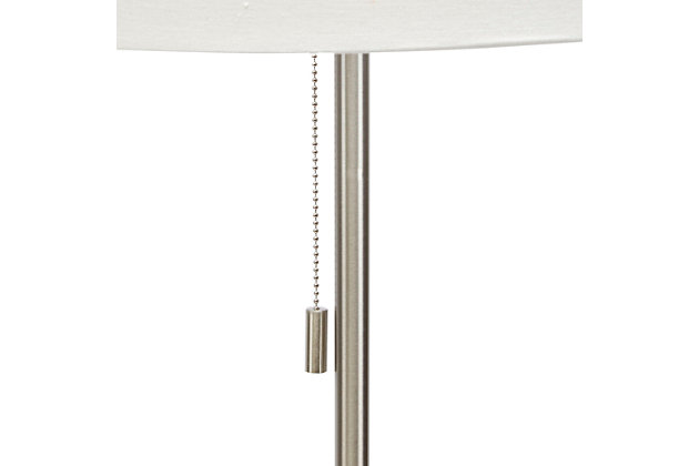 Contempo Floor Lamp with Silver Finish Side Table, , large