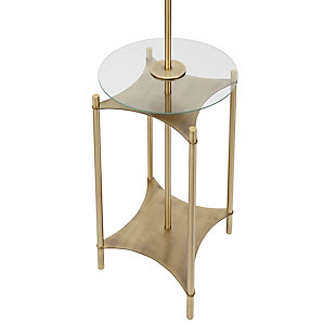 Contempo Floor Lamp with Gold Finish Side Table, , large