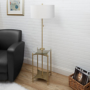 Contempo Floor Lamp with Gold Finish Side Table, , rollover