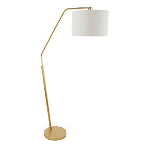 Contempo Gold Finish Arched Floor Lamp, , large