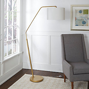 Contempo Gold Finish Arched Floor Lamp, , rollover