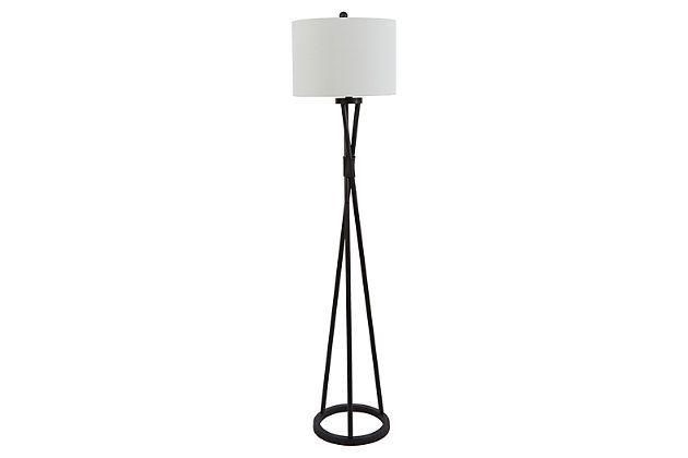 Contempo Twisted Metal Floor Lamp, , large