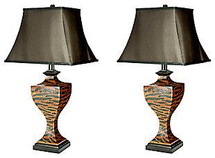 Safari Print Table Lamp (Set of 2), , large