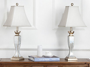 Urn Shaped Glass Lattice Table Lamp (Set of 2), , rollover