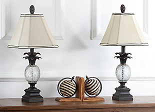 Pineapple Shaped Glass Table Lamp (Set of 2), , rollover