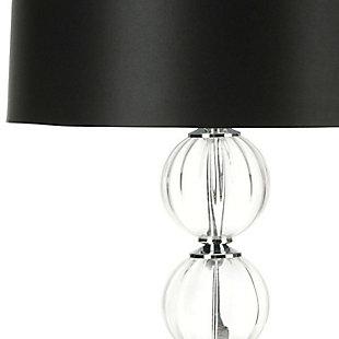 Stacked Globe Table Lamp (Set of 2), Black, large