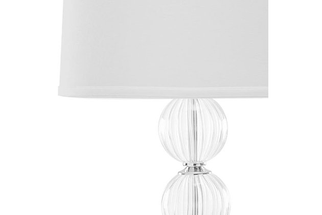 Stacked Globe Table Lamp (Set of 2), Transparent, large