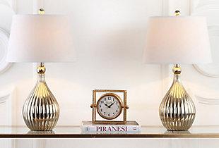 Gourd Shaped Metallic Table Lamp (Set of 2), , large