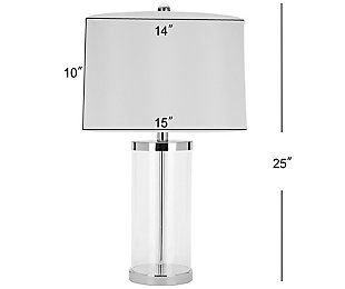 Glass Cylinder Table Lamp (Set of 2), , large