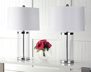 Glass Cylinder Table Lamp (Set of 2), , rollover
