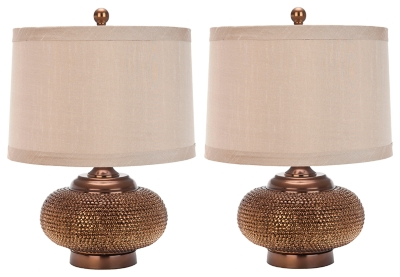 Textured Metal Table Lamp (Set of 2), , large